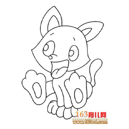 高兴的狐狸简笔画6