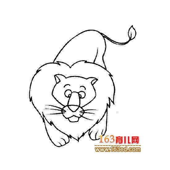 育儿网 简笔画 动物 >> 正文  [图文]可怕的大狮子简笔画6 &nbs