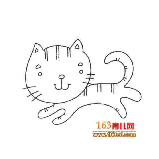 奔跑的小猫简笔画 上一篇简笔画: 有花纹的小猫简笔画2下一