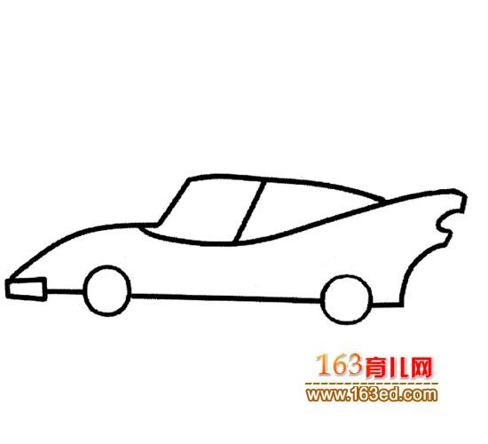 时尚小汽车简笔画5