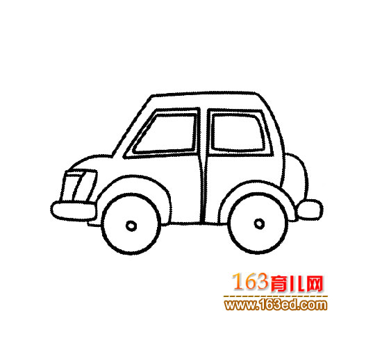 复古小汽车简笔画2