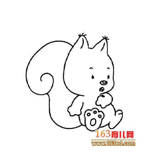 育儿网 简笔画 动物 >> 正文  [图文]简笔画:温顺的小松鼠 &nbs
