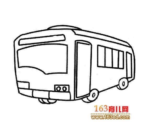交通工具简笔画:时尚公交车—简笔画网
