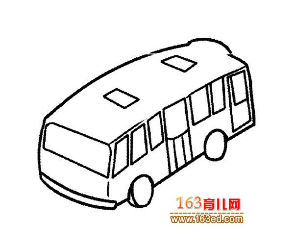 交通工具简笔画 现代公交车5