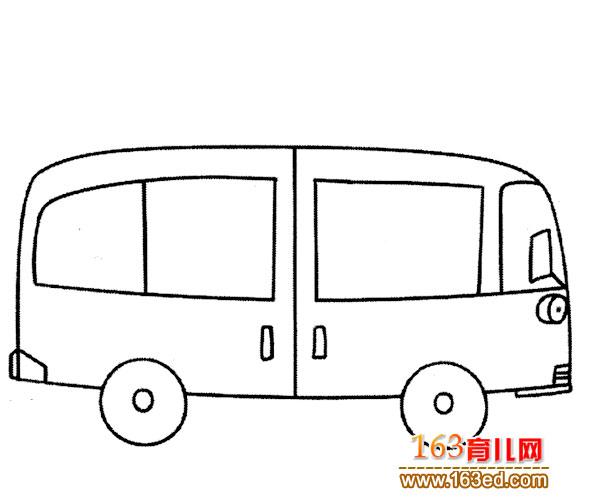 交通工具简笔画 普通公交车