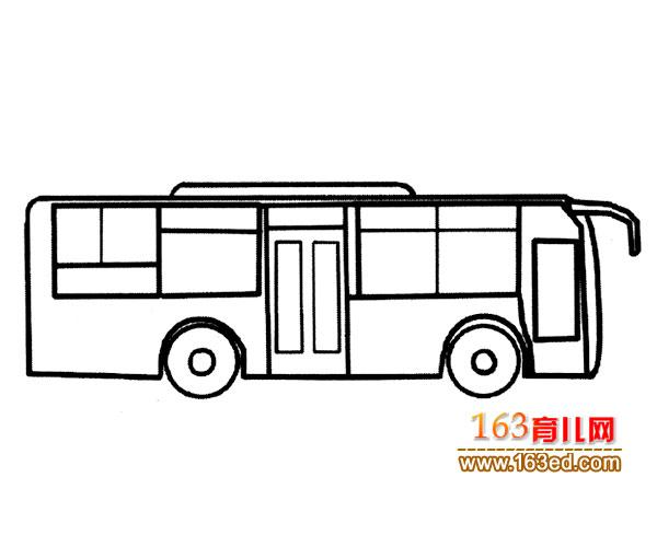 交通工具简笔画 时尚公交车1