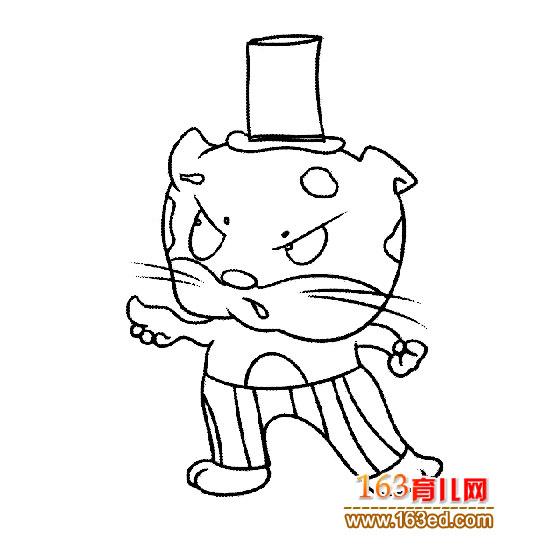 动物简笔画:戴帽子的豹子—简笔画网