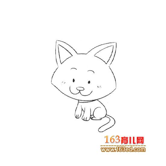 可爱的小猫简笔画2