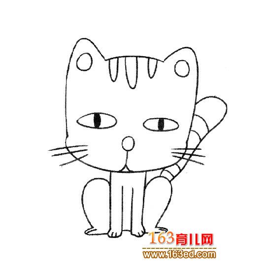 小猫简笔画大全大图内容图片展示_小猫简笔画大全大图图片下载
