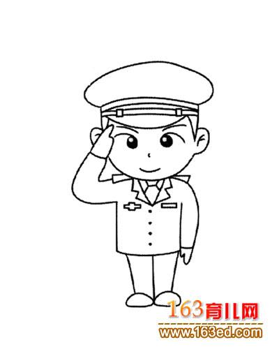 人物简笔画 卡通版的警察2