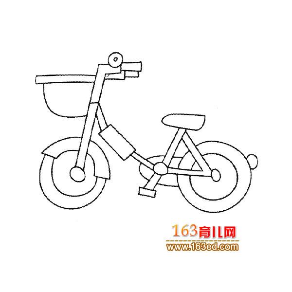 交通工具簡筆畫:女士自行車1—簡筆畫網