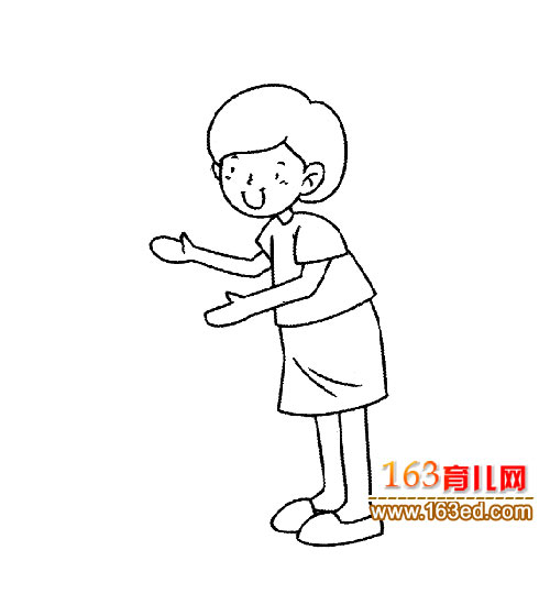 简笔画 人物 老师/人物简笔画:女老师5