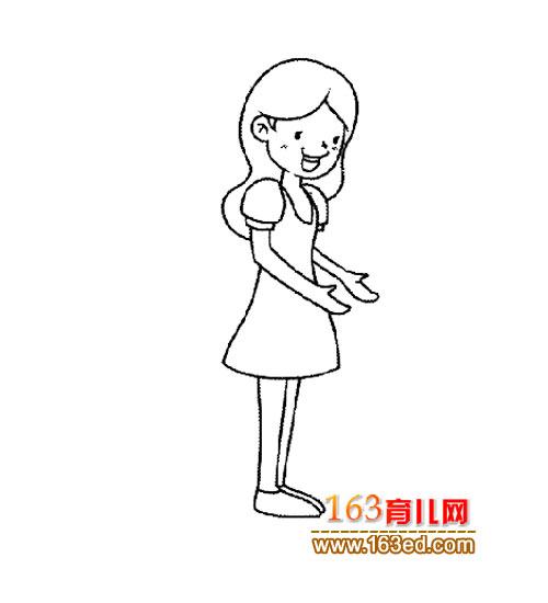 人物简笔画 女老师3