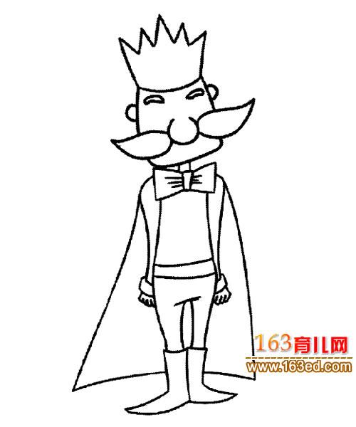 人物简笔画:国王