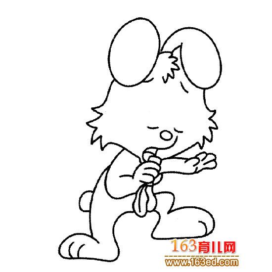 动物简笔画 唱歌的兔子