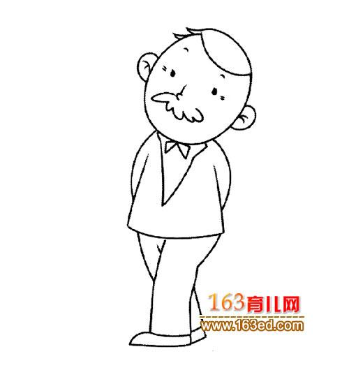大年龄的老师简笔画1