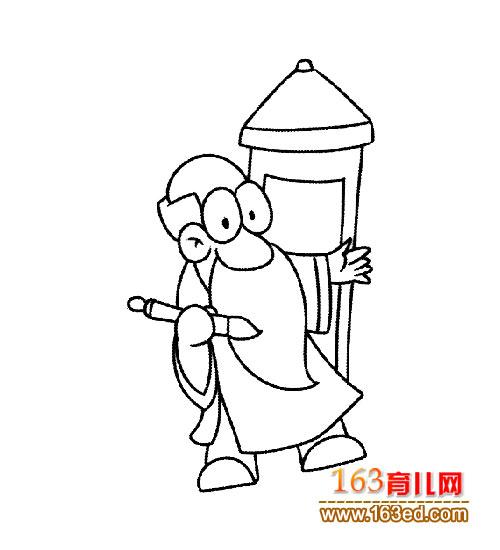古代的老师简笔画