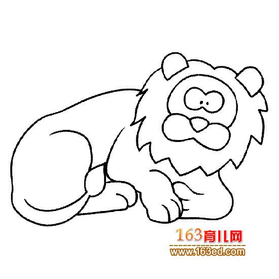 简笔画:睡觉的雄狮1—简笔画网