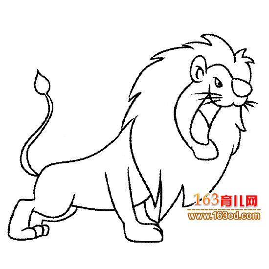 简笔画 凶凶的狮子1