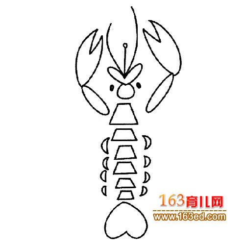简笔画 摆造型的小虾1