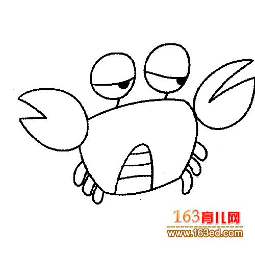 伤心的螃蟹简笔画