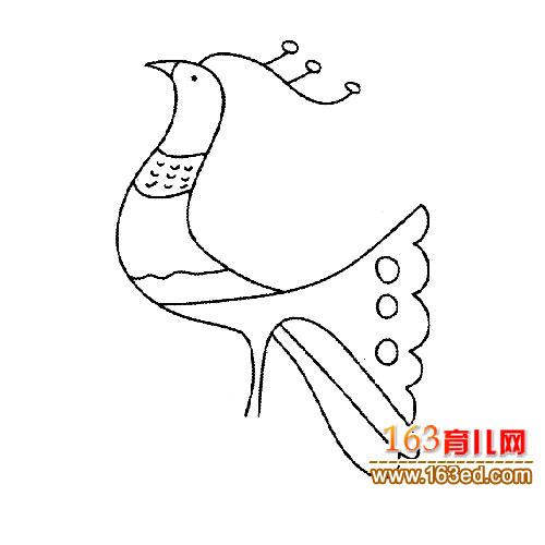 简笔画/简笔画:走路的小孔雀2