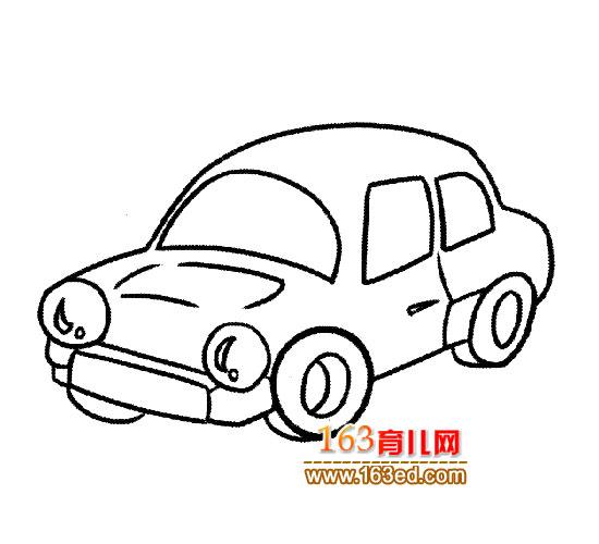 普通小汽车简笔画3高清图片