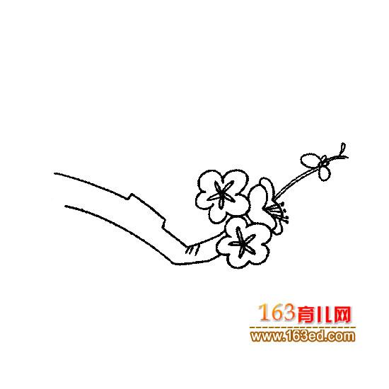 梅花的彩铅手绘图片