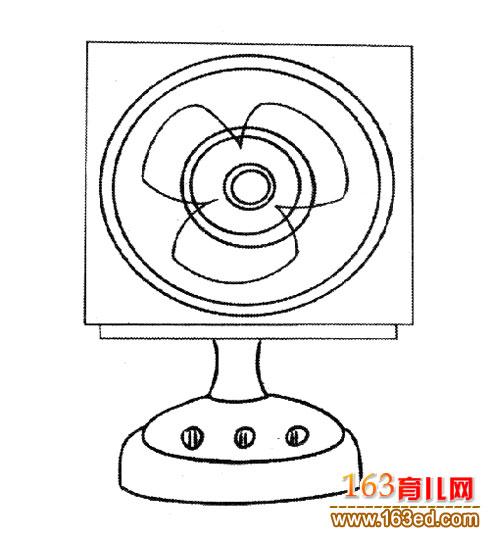 正方形电风扇│简笔画2—简笔画网