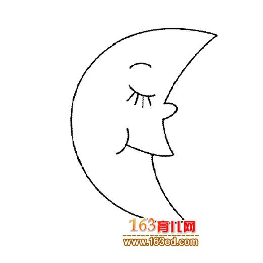 睡觉的月亮简笔画2—简笔画网