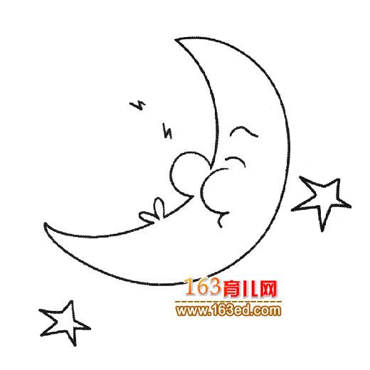 简笔画│月亮和星星3—简笔画网