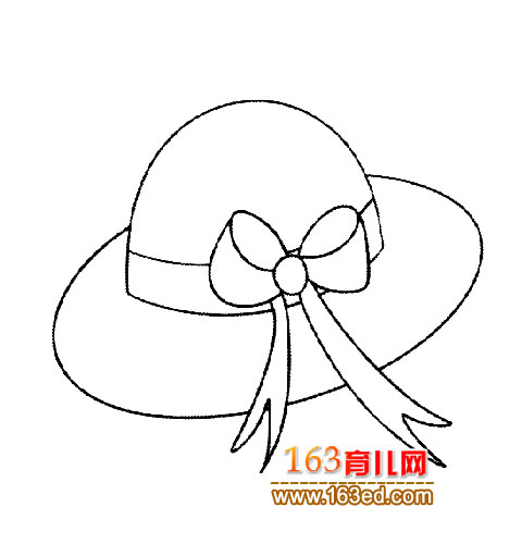 帽子简笔画 漂亮女士帽2