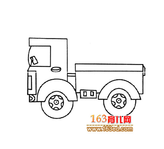 玩具卡车【简笔画】2—简笔画网