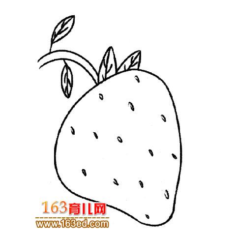 育儿网 简笔画 水果 >> 正文  [图文]可爱的草莓简笔画5 &nbsp