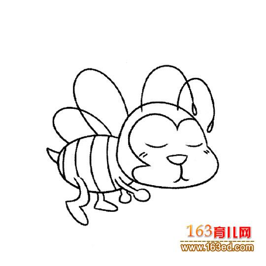 闭着眼睛的小蜜蜂简笔画