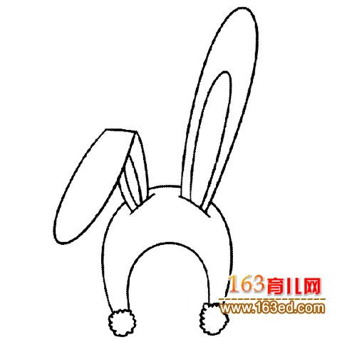 兔子帽子 简笔画 2
