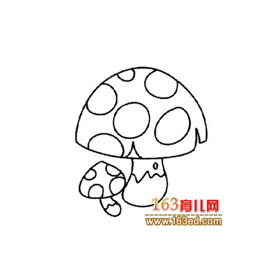 可爱的蘑菇简笔画4
