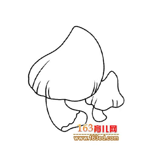 美味的蘑菇 简笔画 5
