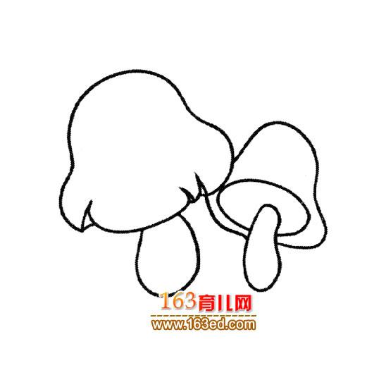 简笔画 蘑菇/蔬菜简笔画│蘑菇1
