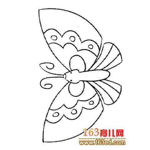 可爱的蝴蝶5 简笔画