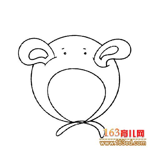 兔子帽子 简笔画 4