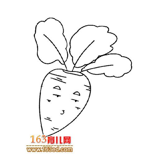 简笔画 卡通萝卜1