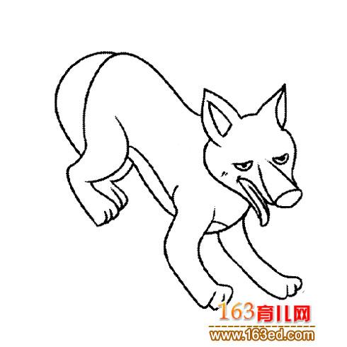 恶的大灰狼3 简笔画
