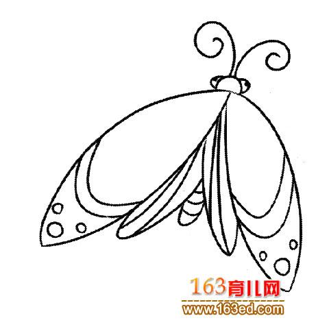 辛勤劳动的蝴蝶1 简笔画