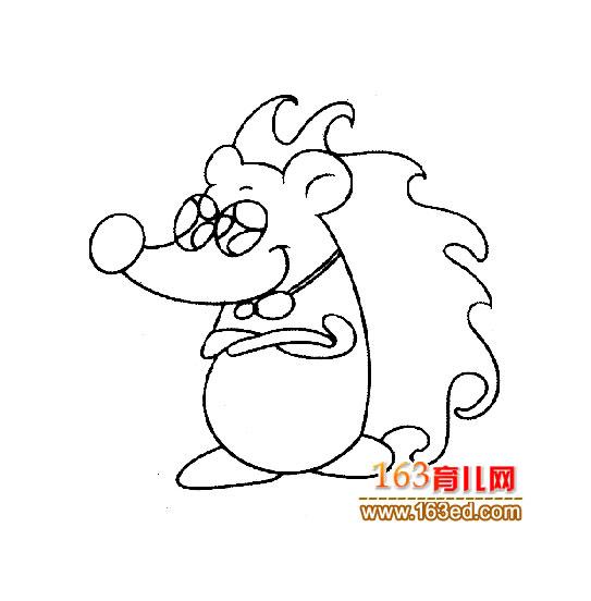 卡通简笔画:刺猬4—简笔画网