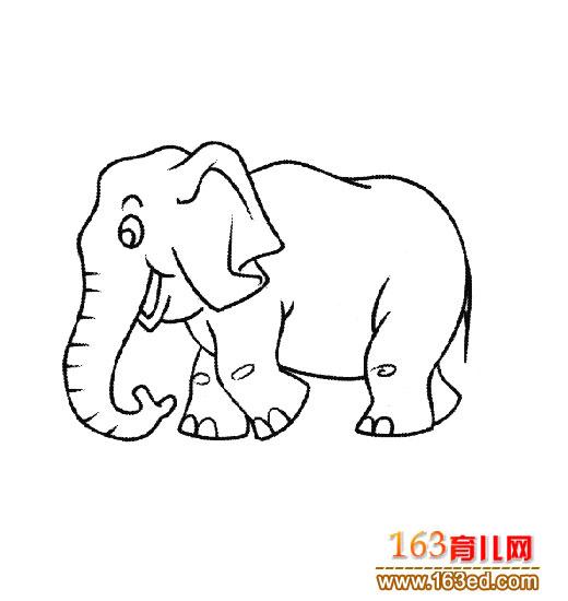 奔跑的大象 简笔画
