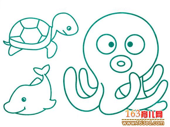 简笔画/水生动物1(简笔画)