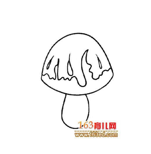 简笔画 蘑菇/蔬菜简笔画:蘑菇4