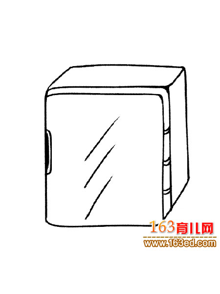 简笔画/正方形冰箱(简笔画)1