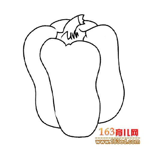 简笔画 辣椒/蔬菜简笔画:辣椒